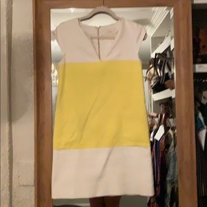 kate spade Dresses - Kate Spade yellow and white dress size 6
